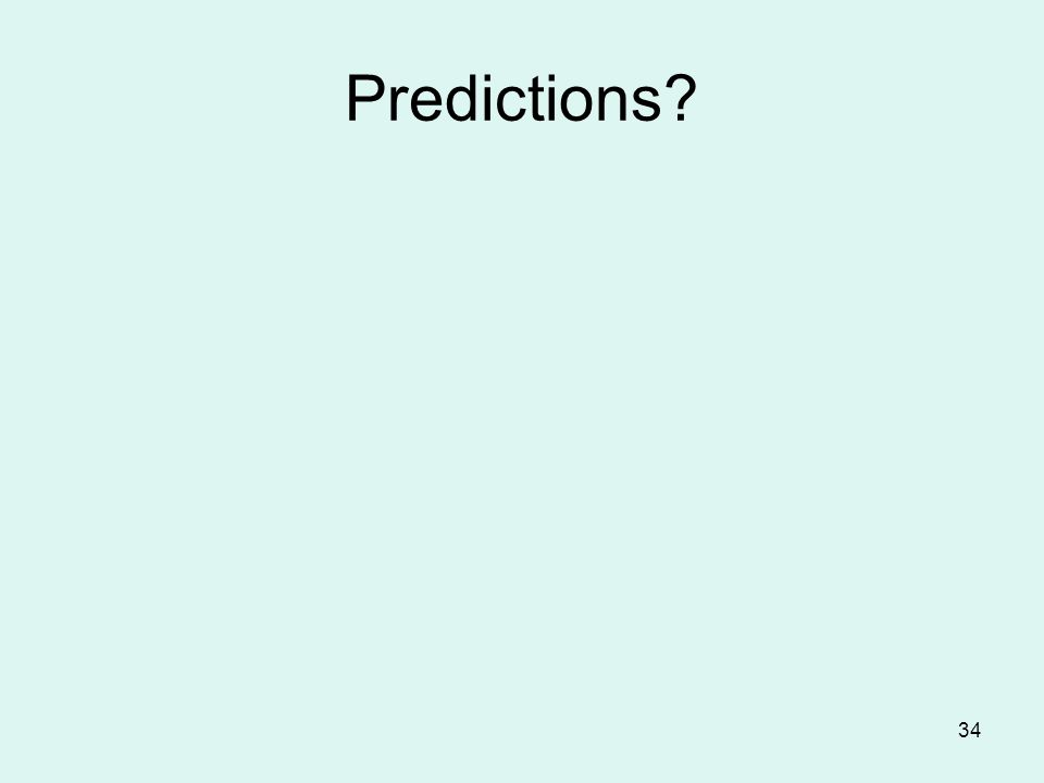 34 Predictions