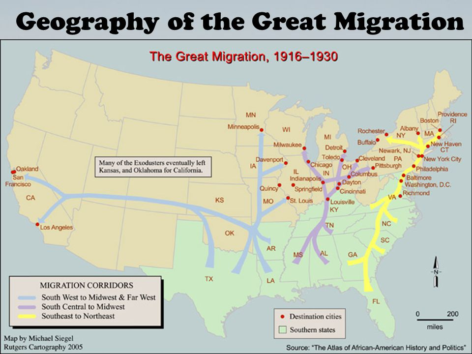 Geography of the Great Migration