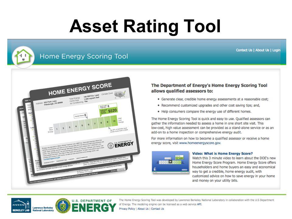 Asset Rating Tool