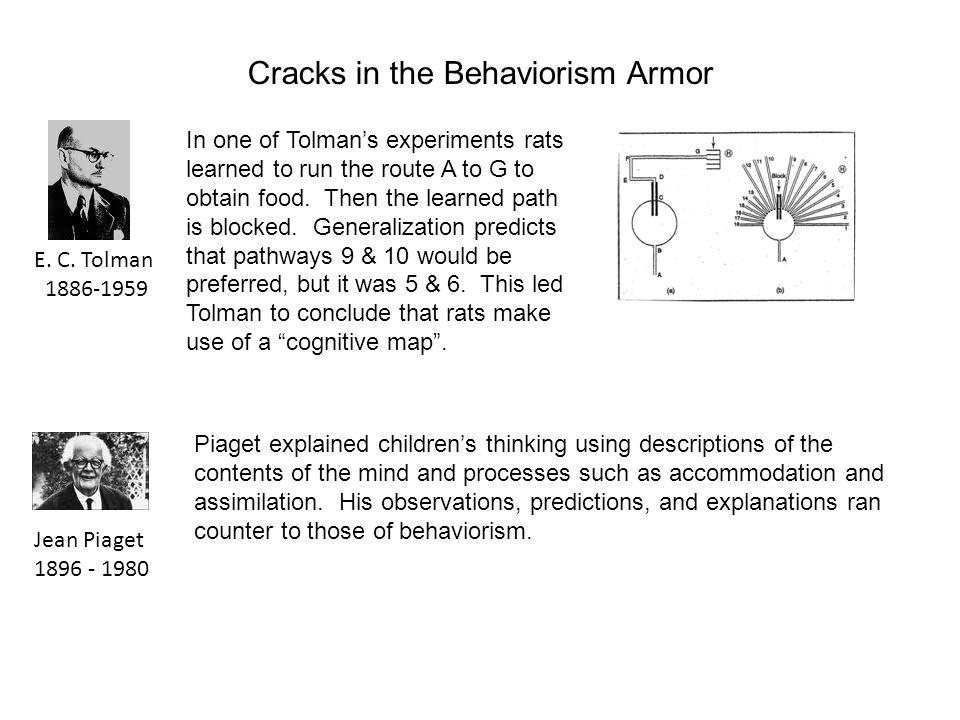 Cracks in the Behaviorism Armor E. C.