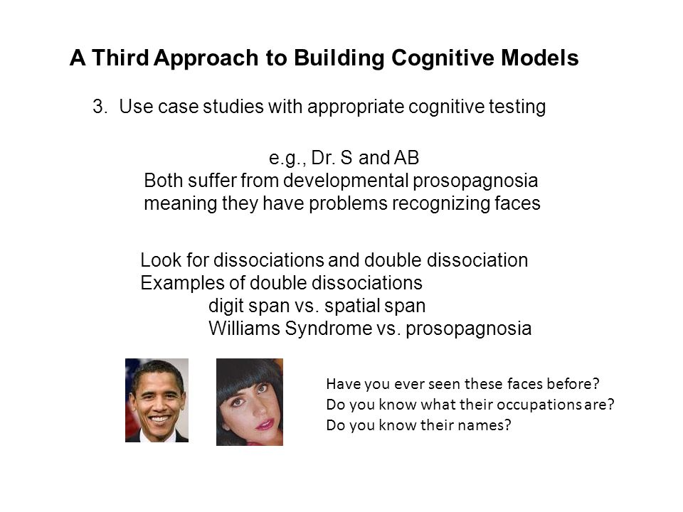 A Third Approach to Building Cognitive Models 3.
