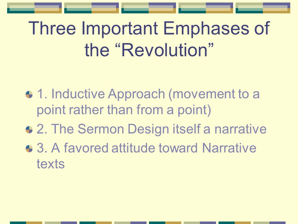 Three Important Emphases of the Revolution 1.
