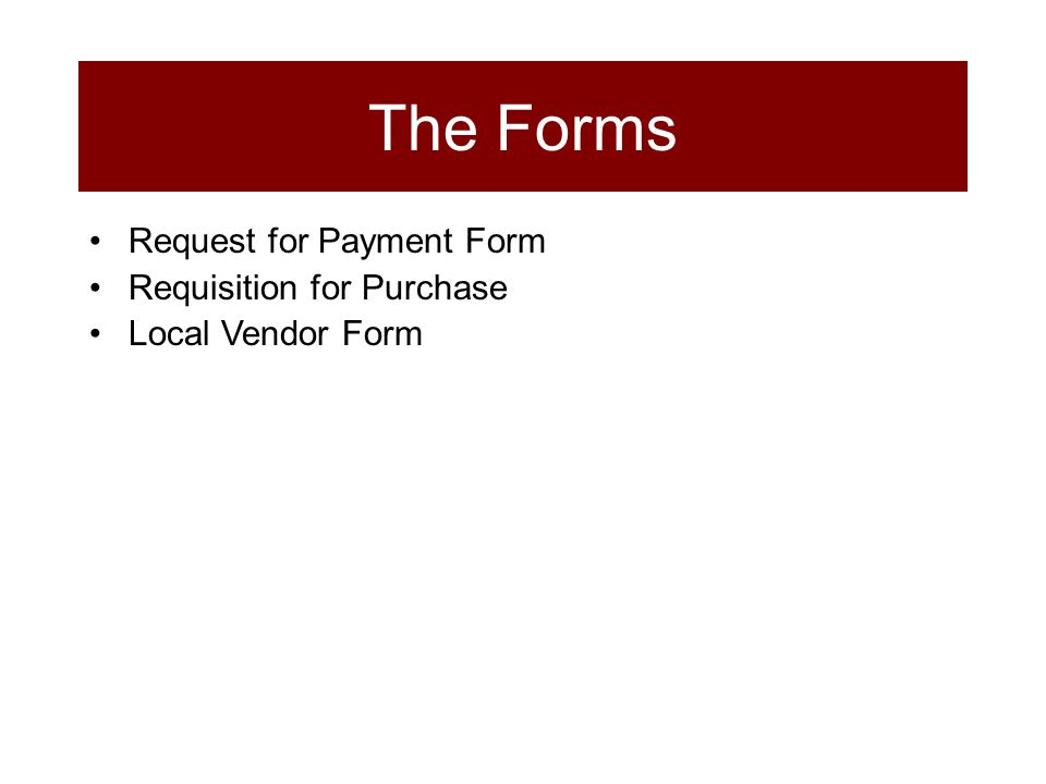 Request for Payment Form Requisition for Purchase Local Vendor Form The Forms
