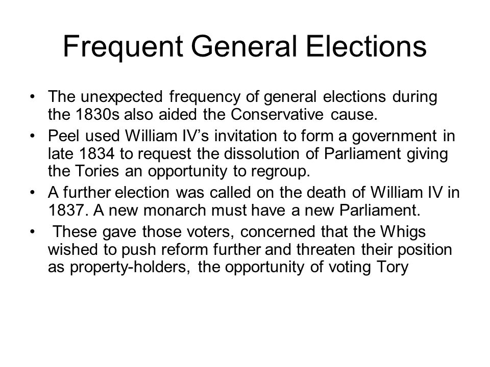 Conservative Organisation The emergence of Conservative Party organisation also played an important part in reviving Tory fortunes.