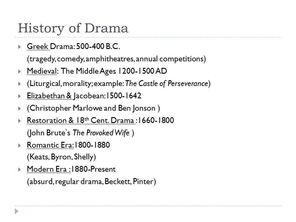 History of Drama  Greek Drama: 500-400 B.C.