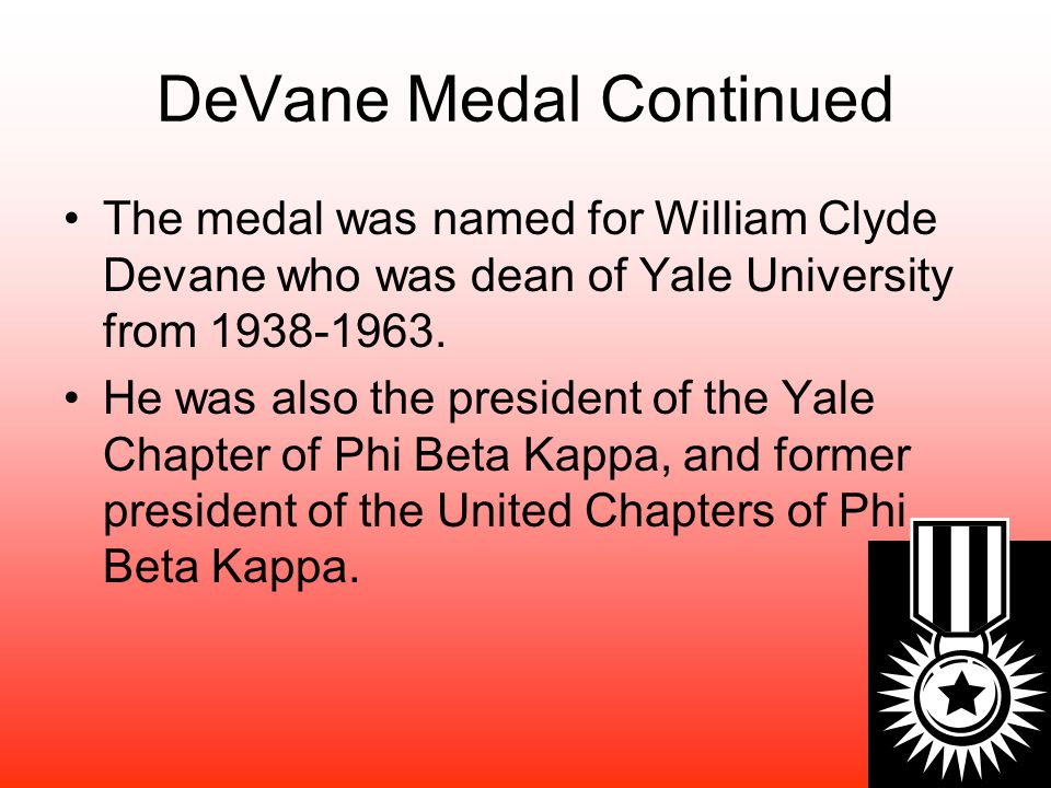 William Clyde DeVane Professorship The William Clyde DeVane Professorship was established in 1969 with a grant from the Old Dominion Foundation.