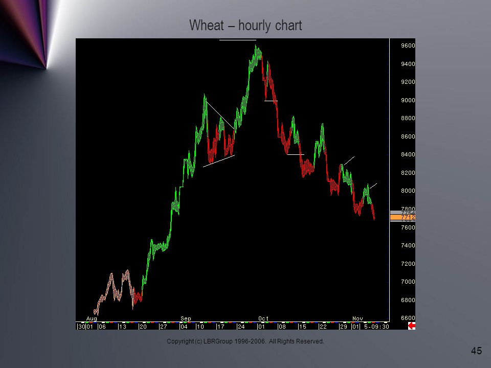 Copyright (c) LBRGroup 1996-2006. All Rights Reserved. 45 Wheat – hourly chart