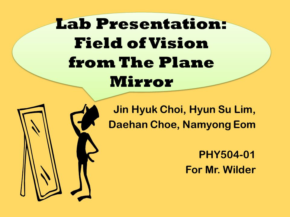 At the end of the experiment, it was found out that the field of vision (the area that can be seen from the mirror) is the area within two incident rays in front of the mirror's reflective surface.