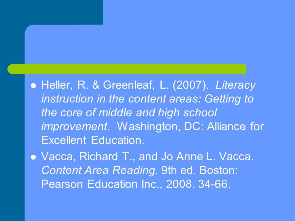 Heller, R. & Greenleaf, L. (2007).