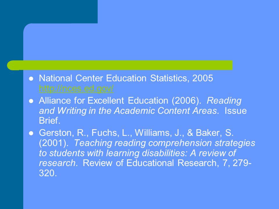National Center Education Statistics, 2005 http://nces.ed.gov/ http://nces.ed.gov/ Alliance for Excellent Education (2006).