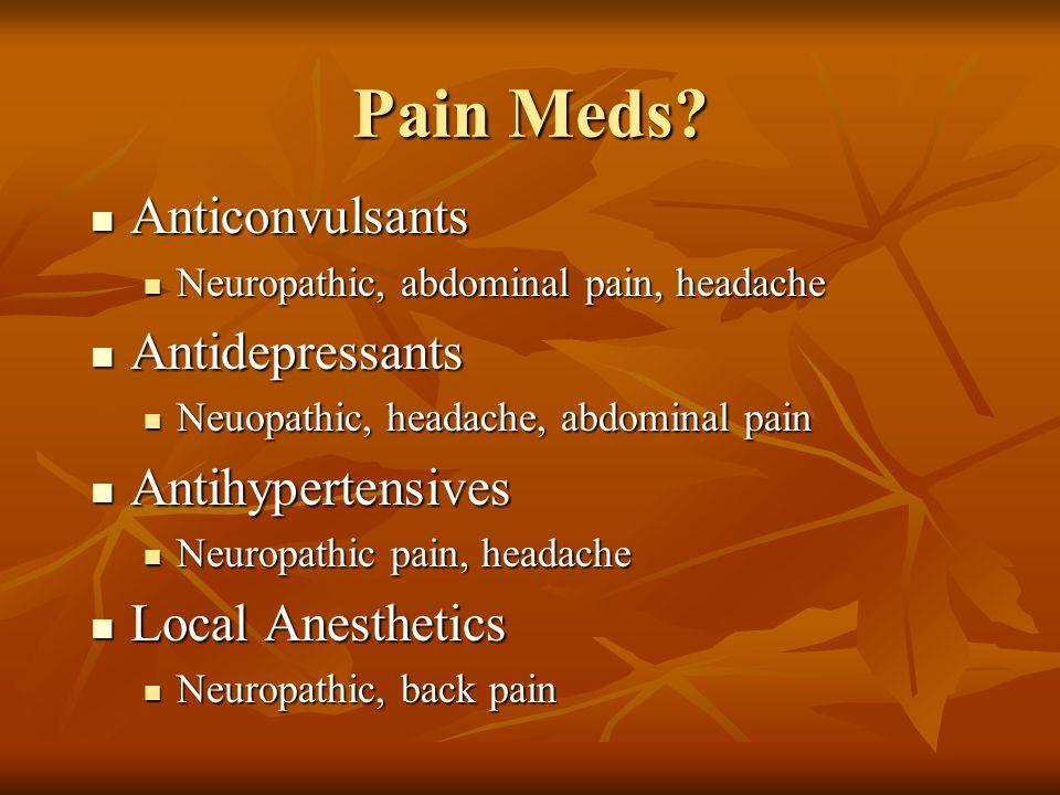 Pain Meds.