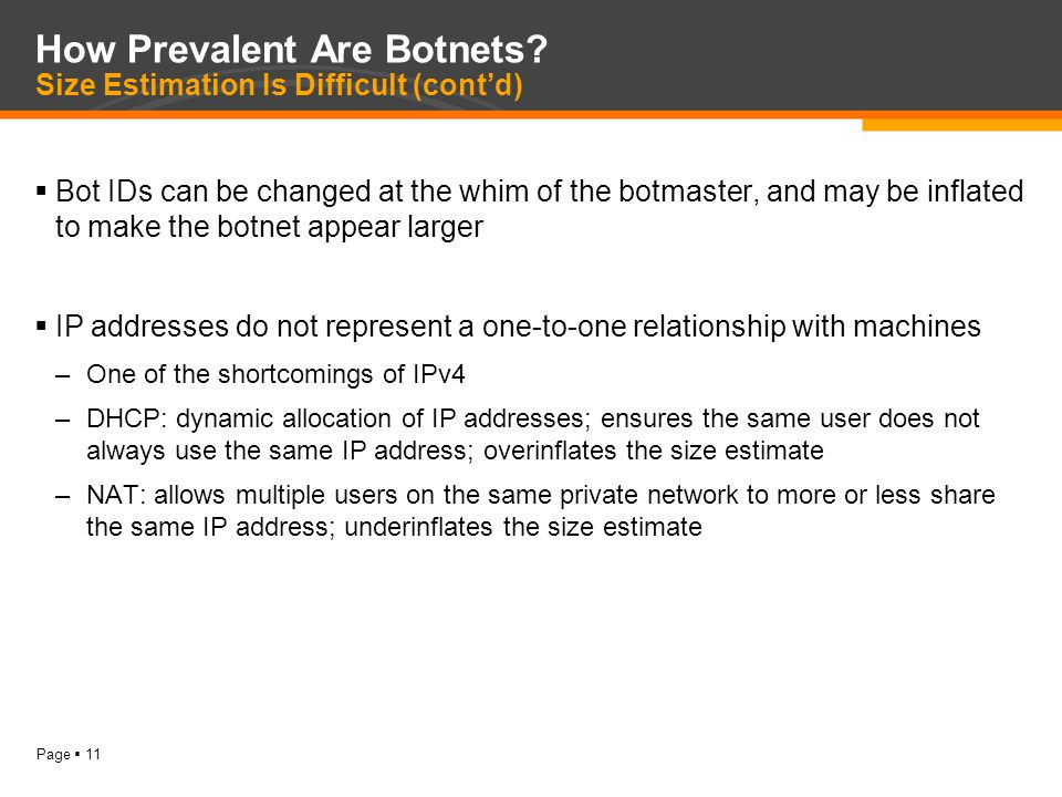 Page  11 How Prevalent Are Botnets.