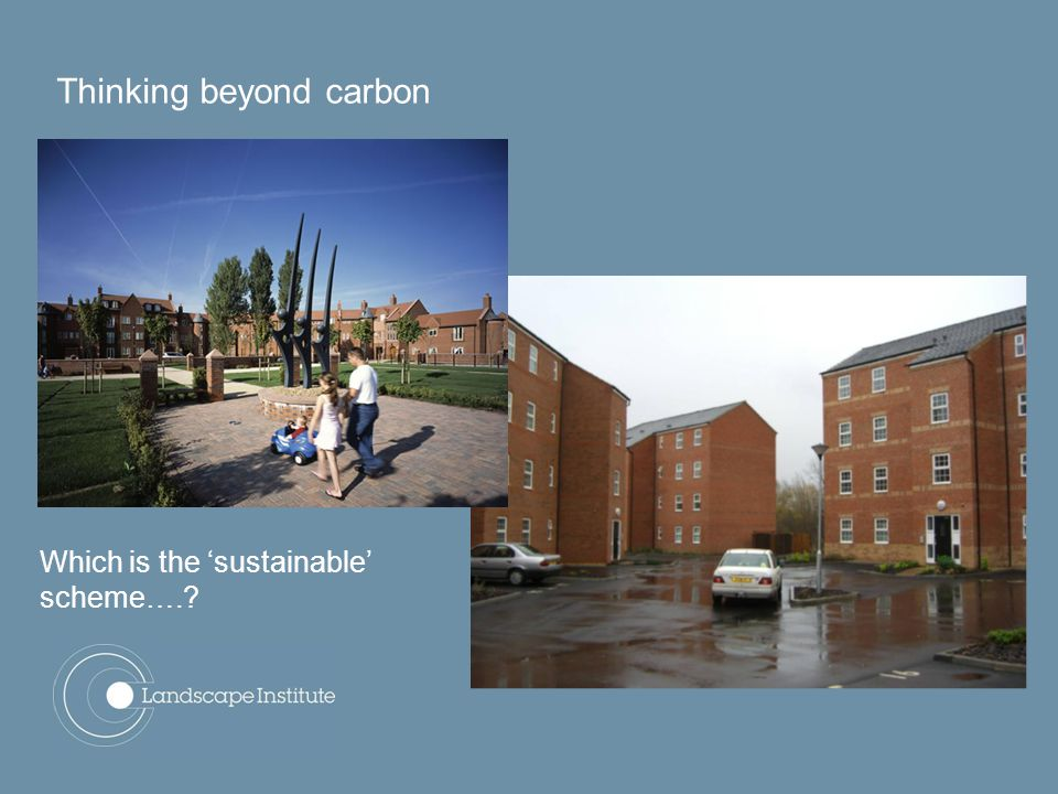 Which is the 'sustainable' scheme…. Thinking beyond carbon