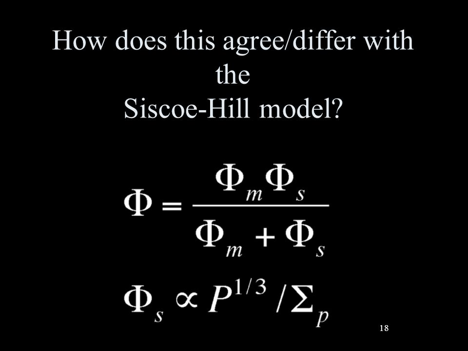 18 How does this agree/differ with the Siscoe-Hill model