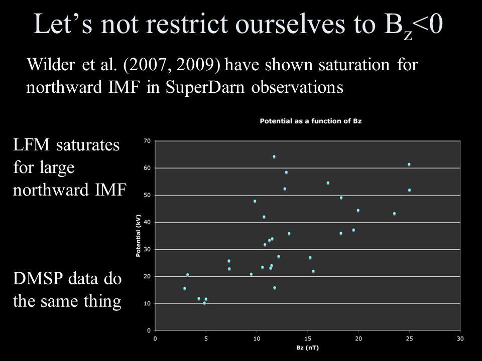 Let's not restrict ourselves to B z <0 Wilder et al.