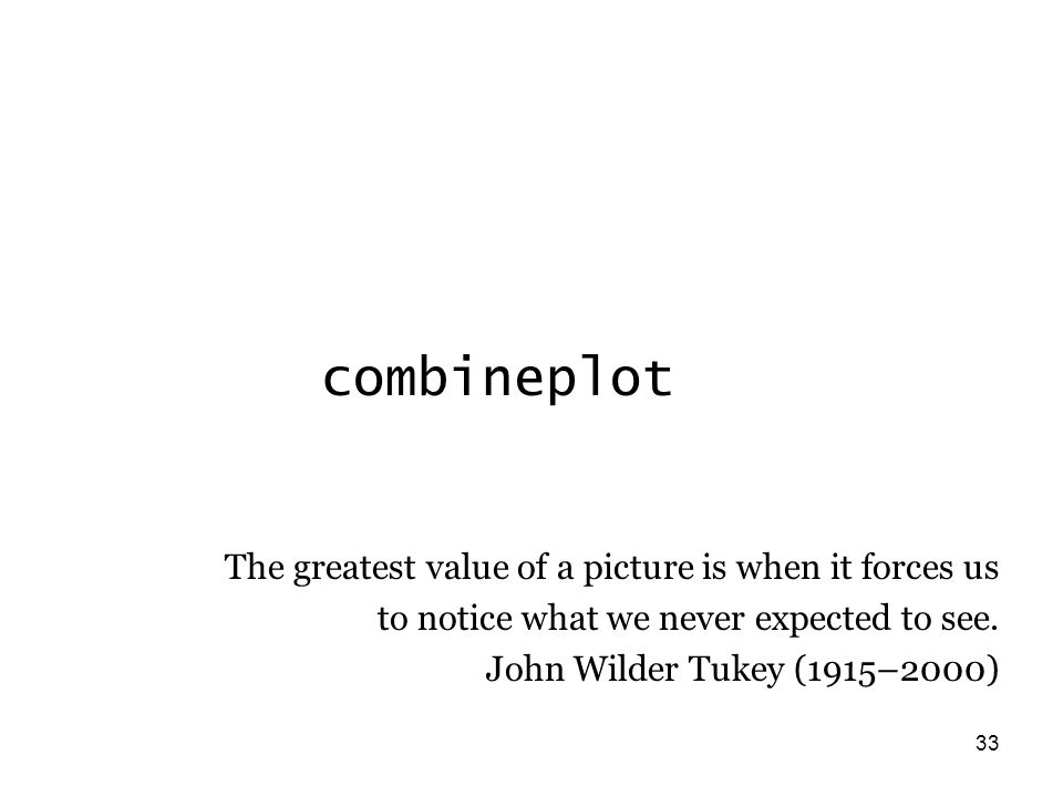 33 combineplot The greatest value of a picture is when it forces us to notice what we never expected to see.