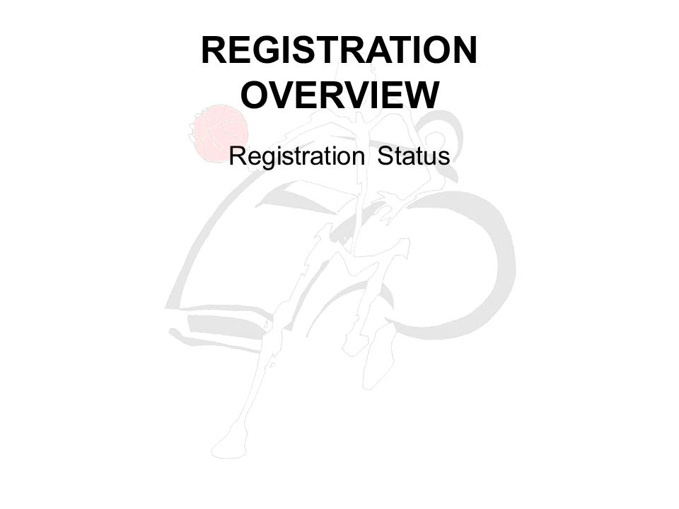 Registration Status REGISTRATION OVERVIEW