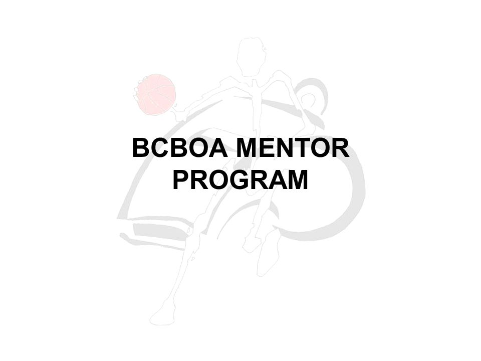 BCBOA MENTOR PROGRAM