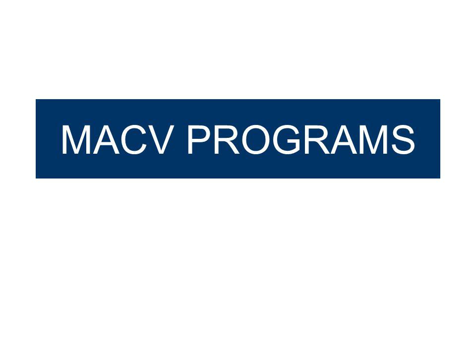 MACV PROGRAMS
