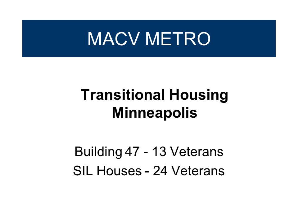 MACV METRO Transitional Housing Minneapolis Building 47 - 13 Veterans SIL Houses - 24 Veterans