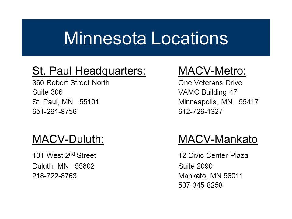 Minnesota Locations St.