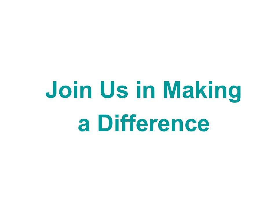 Join Us in Making a Difference