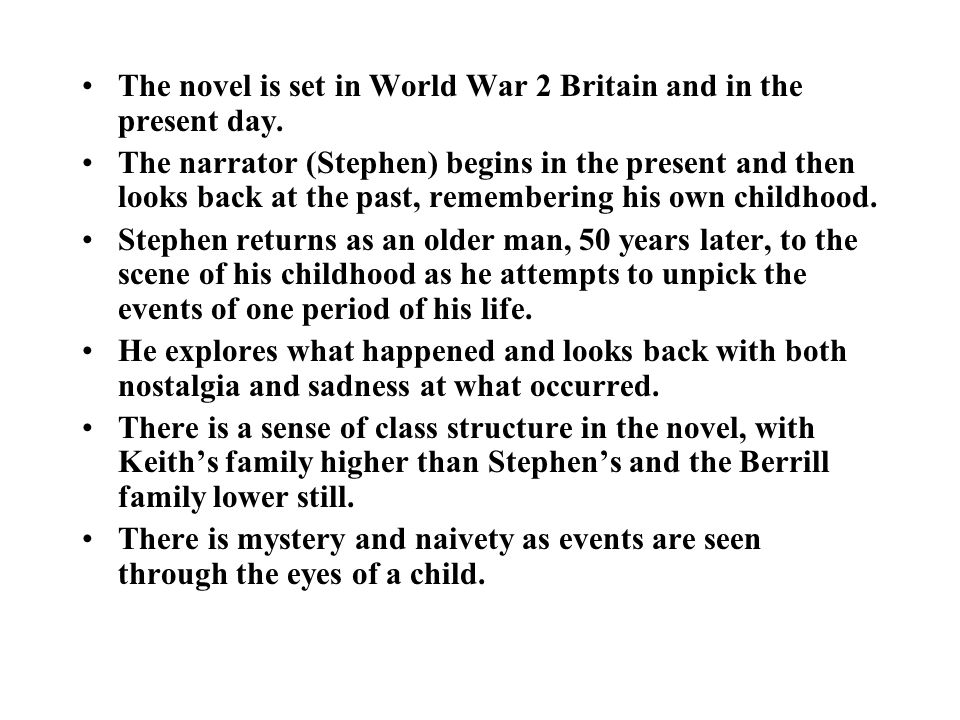 Key Characters STEPHEN Stephen's background is shrouded in mystery, as are a number of elements in the novel, and is only explained later.