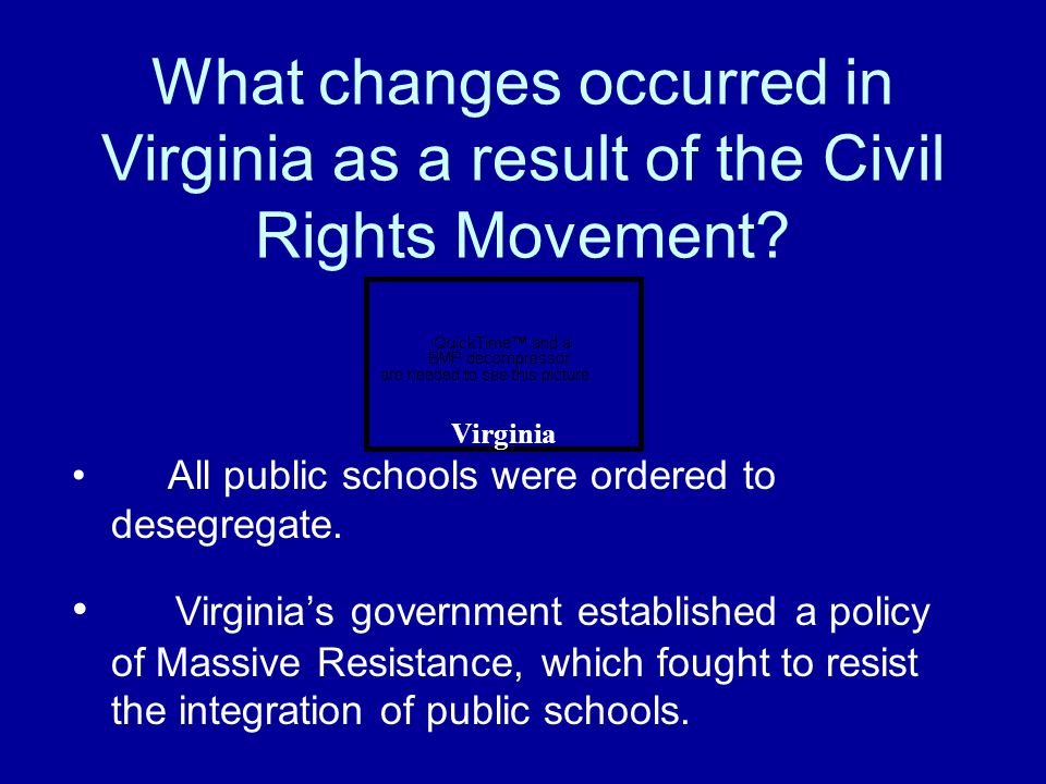 What was the impact of the Civil Rights Movement? Laws were passed that made racial discrimination illegal.