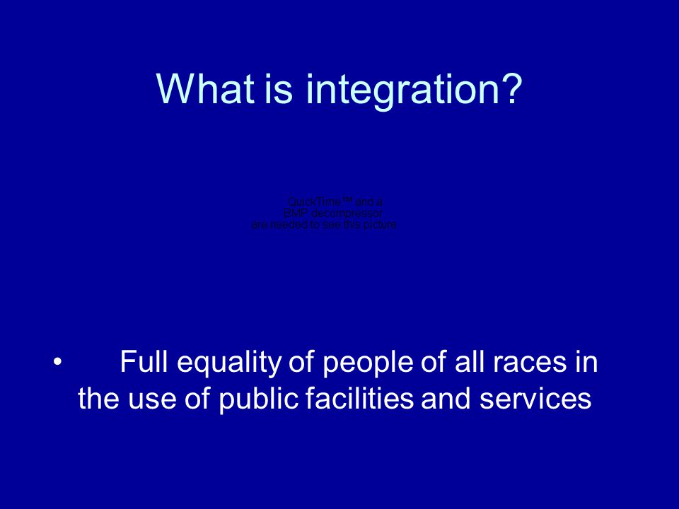 What is the meaning of desegregation? Abolishment of racial segregation