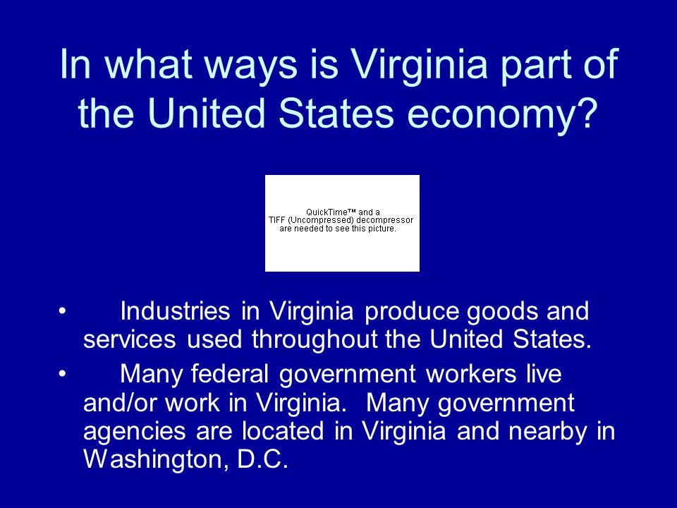 How have advances in communications and technology helped the economy of Virginia grow? Virginia has a large number of communications and other techno