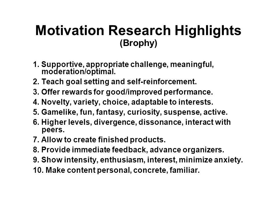 1. Motivational Techniques
