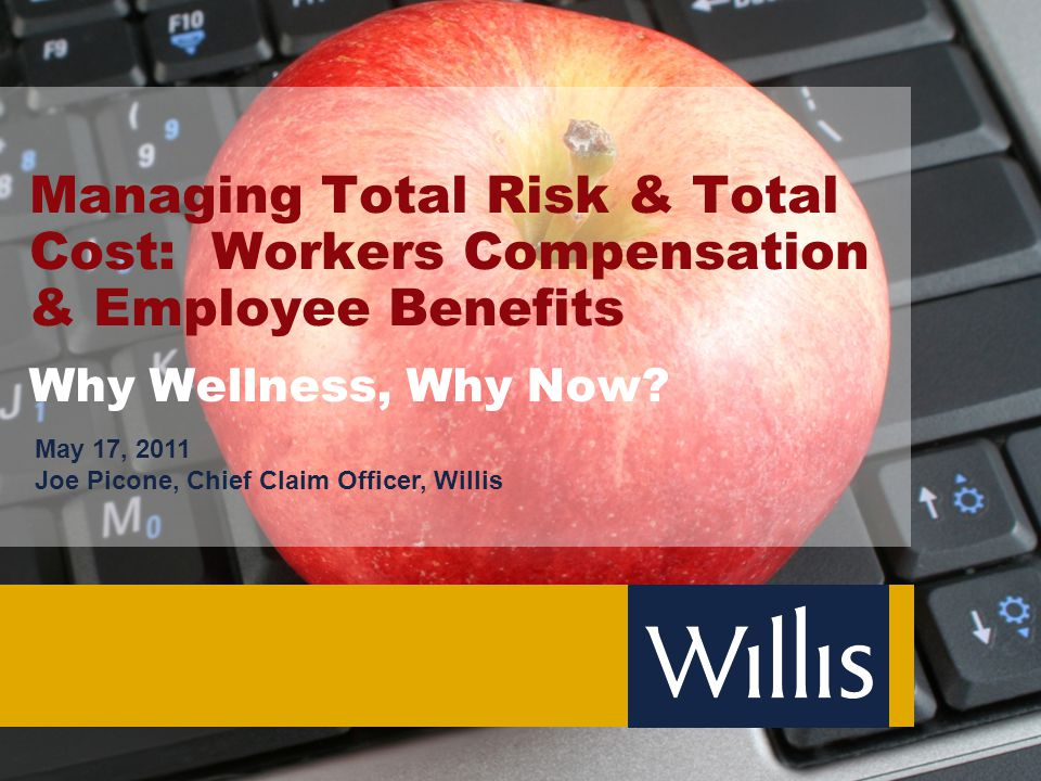 1 Agenda  Cost of Workers Compensation and Employee Benefits  Today's Workforce  Employee Benefits vs.
