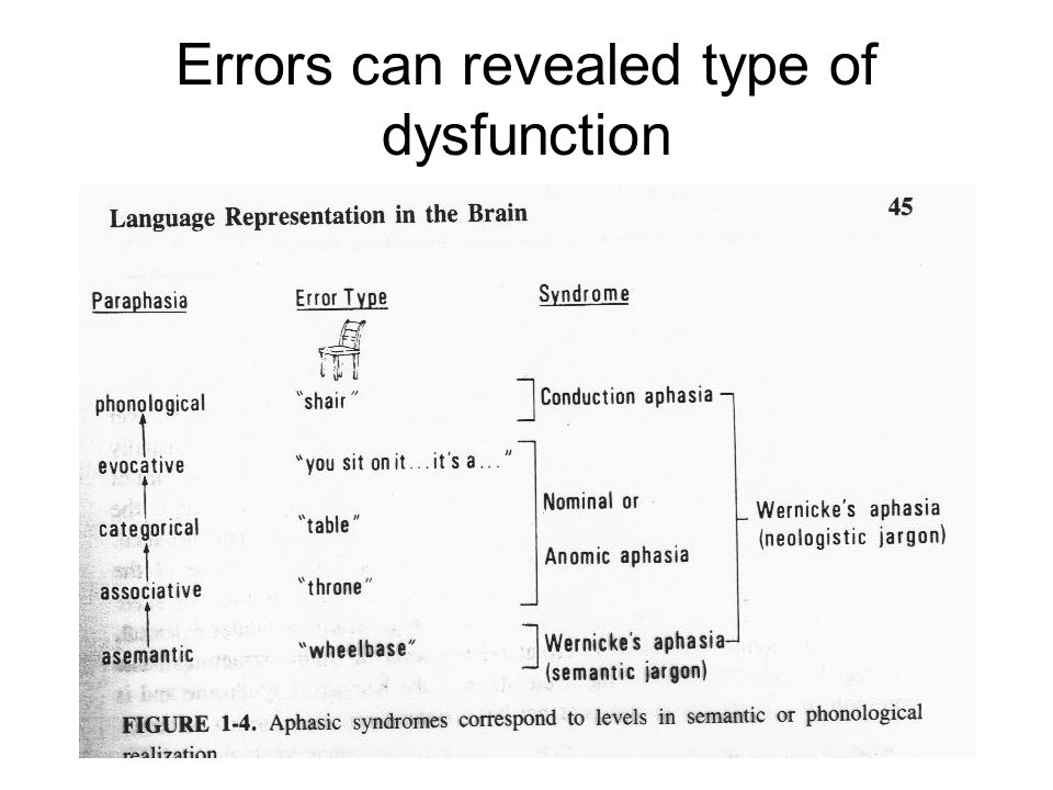Errors can revealed type of dysfunction