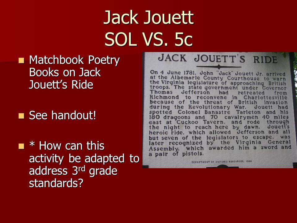 Jack Jouett SOL VS.
