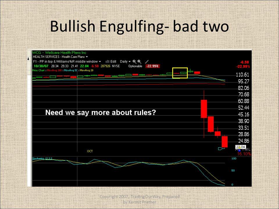 Bullish Engulfing- bad two Copyright 2007, TradingOurWay, Prepared by Kermit Prather