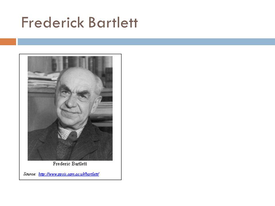 Frederick Bartlett