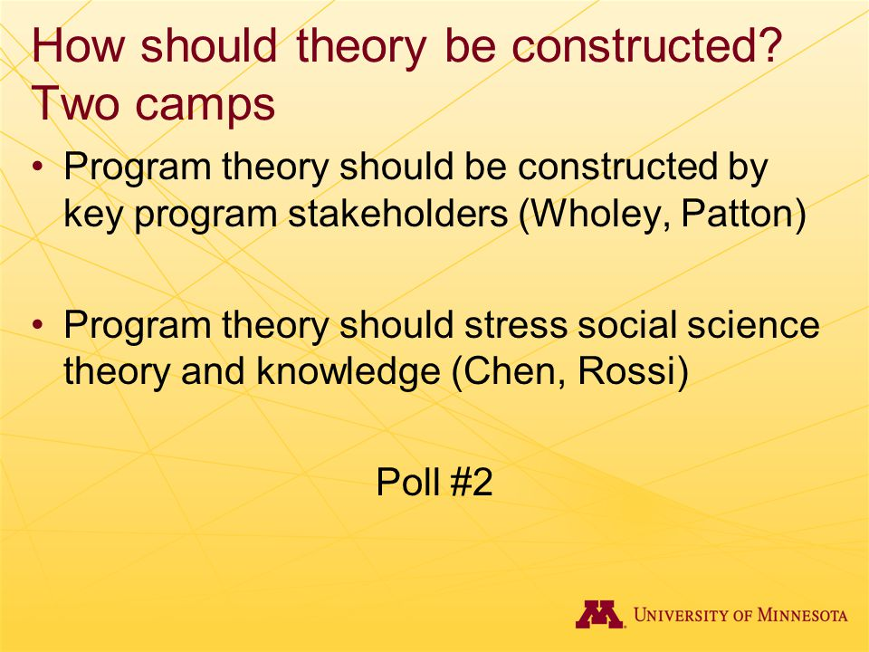 How should theory be constructed.