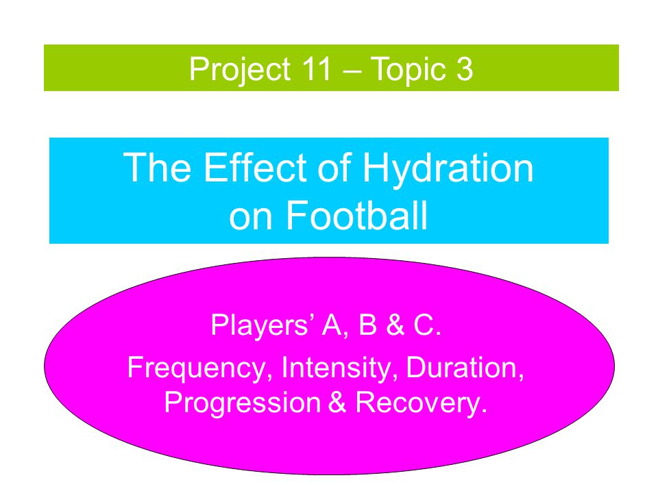 The Effect of Hydration on Football Players' A, B & C.