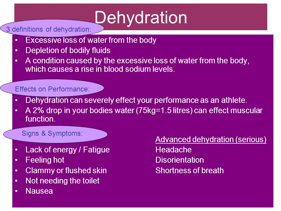 Occurs when body fluid losses are not fully replaced.