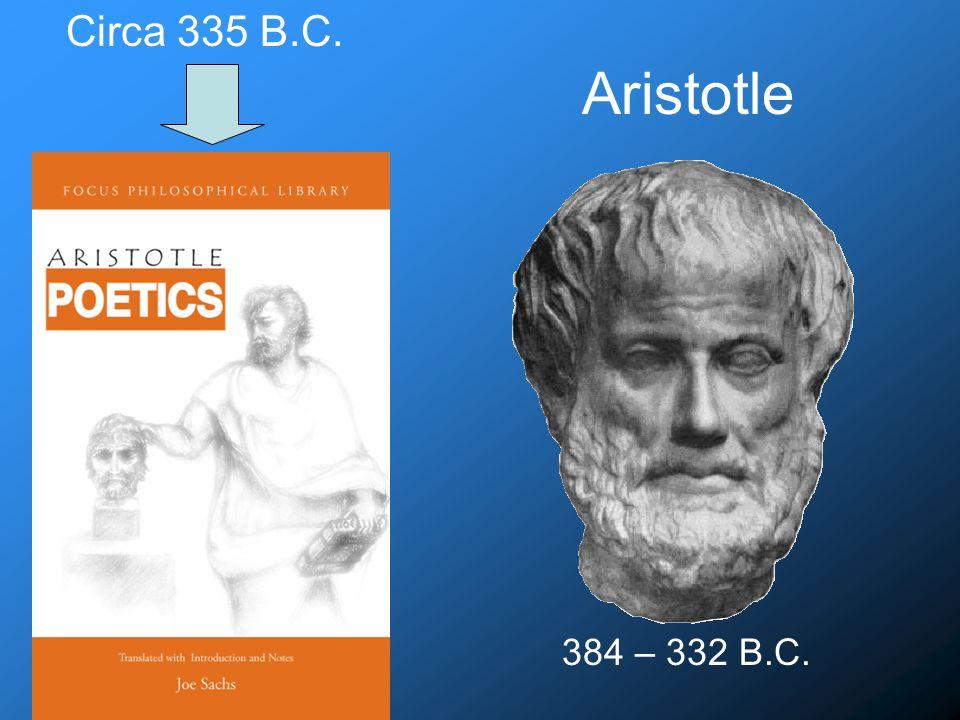 Aristotle 384 – 332 B.C. Circa 335 B.C.