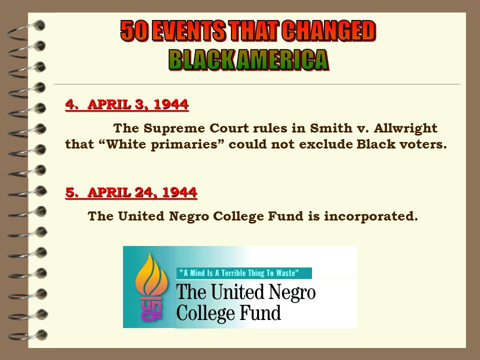 4. APRIL 3, 1944 The Supreme Court rules in Smith v.
