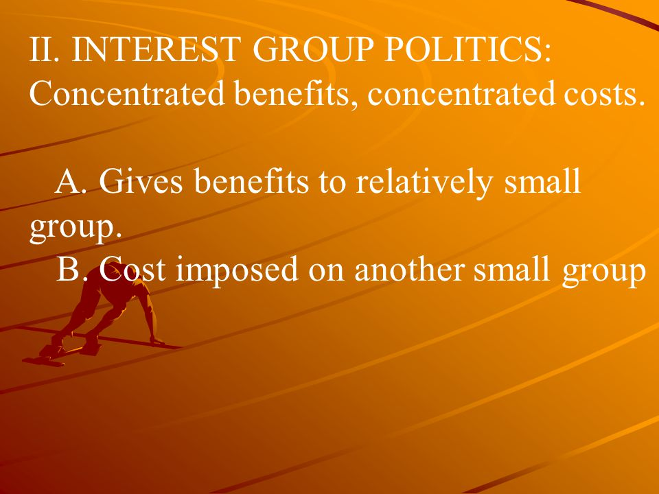Interest group politics: acid rain –Solutions and compromise Practical disadvantages –Failed to allow for plants that burn low-sulfur coal; why spend money on scrubbers.