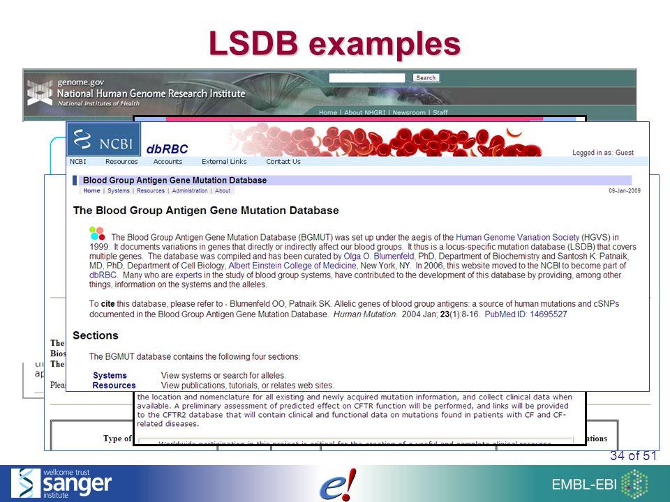 34 of 51 LSDB examples