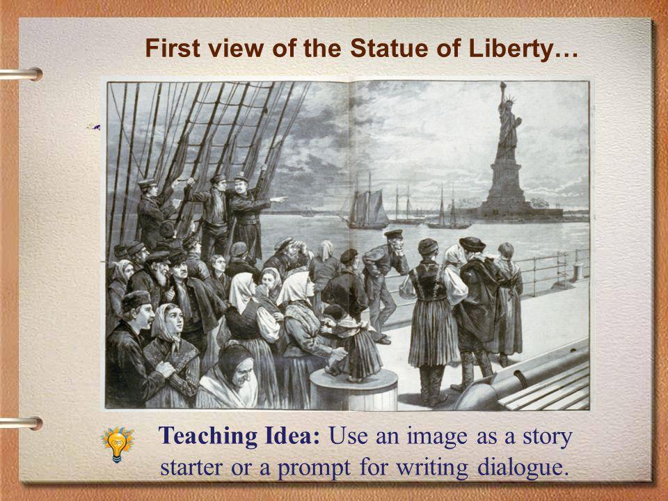 Arrival at Ellis Island…