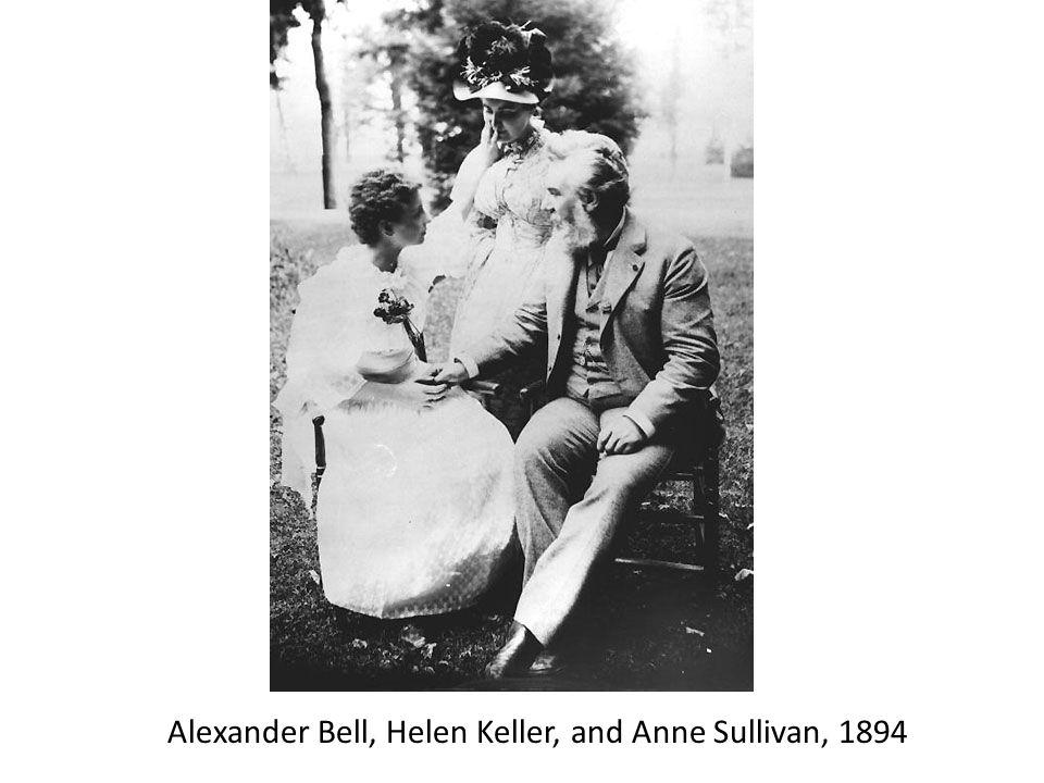 Alexander Bell, Helen Keller, and Anne Sullivan, 1894