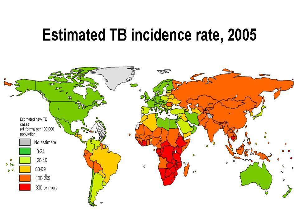 Risk in Special Circumstances: Health Care Workers  Estimates of the annual risk of LTBI ranged from 0.5% to14.3%  The attributable risk for TB disease in HCWs ranged from 25 to 5,361 per 100,000 per year.