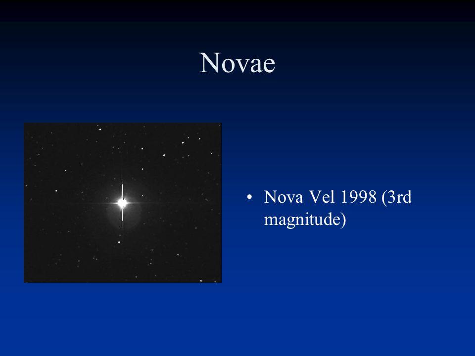 Novae/Supernovae I Note! Not to scale!