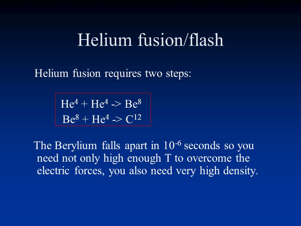 Red Giants RG Helium core is support against gravity by electron degeneracy Electron-degenerate gases do not expand with increasing temperature (no th