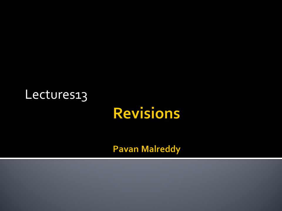 Lectures13