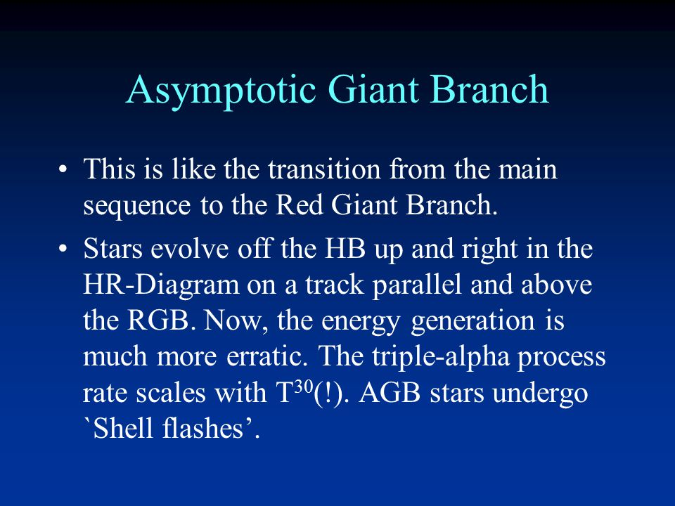 Asymptotic Giant Branch Carbon Core Helium fusion shell Hydrogen Fusion shell